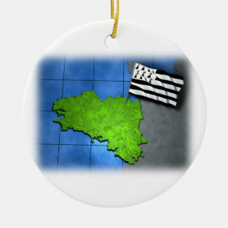Brittany with its own flag ceramic ornament
