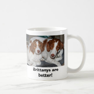 Brittanys are better! classic white coffee mug