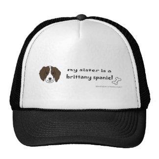BrittanySpanielSisterBrown Trucker Hat