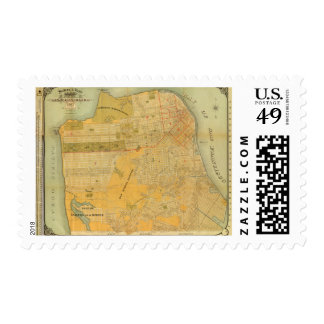 Britton and Rey's Guide Map Stamp