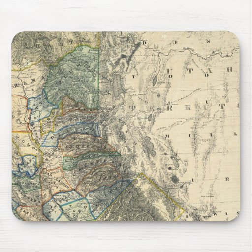 Britton and Rey's Map of California Mousepad
