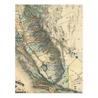 Britton and Rey's Map of California Postcard
