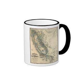 Britton and Rey's Map of California Ringer Mug