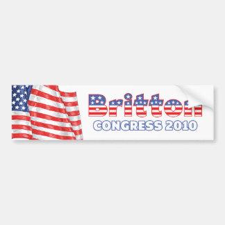 Britton Patriotic American Flag 2010 Elections Car Bumper Sticker