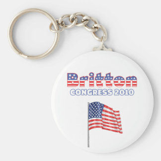 Britton Patriotic American Flag 2010 Elections Keychain