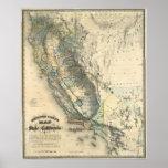 Britton y el mapa de Rey de California Póster