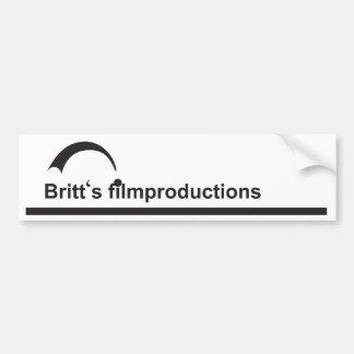 Britt's filmproductions bumper sticker