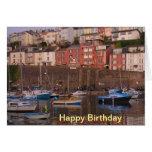Brixham Harbour Birthday Card