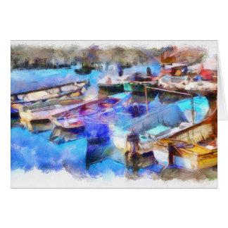 Brixham Harbour Devon From Watercolour Card