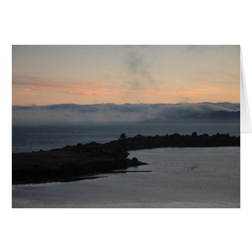 Briznas de la niebla tarjeta de felicitación