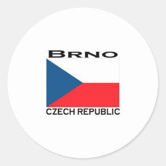 Brno Classic Round Sticker