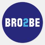 Bro2Be - Brother a ser Etiquetas Redondas