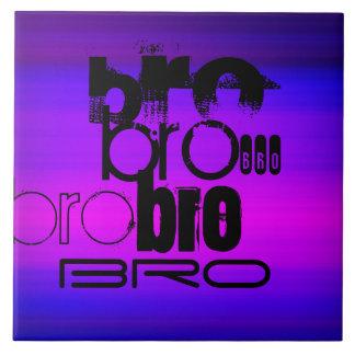 Bro; Azul violeta y magenta vibrantes Azulejo Cuadrado Grande