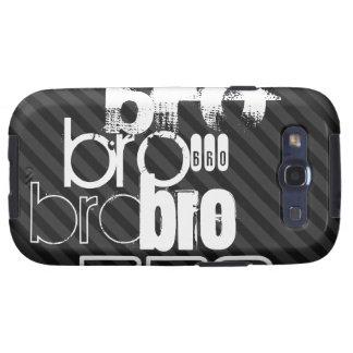 Bro; Black & Dark Gray Stripes Samsung Galaxy SIII Cover