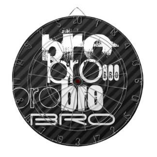 Bro; Black & Dark Gray Stripes Dartboard With Darts