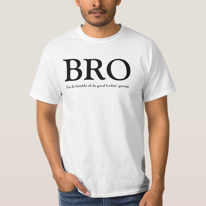 BRO - Brother of the Groom Wedding TShirt