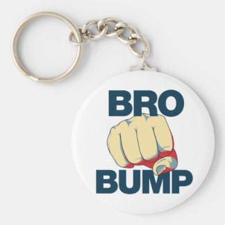 Bro Bump Funny mens Basic Round Button Keychain