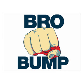 Bro Bump Funny mens Postcard