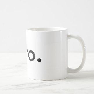 bro. classic white coffee mug