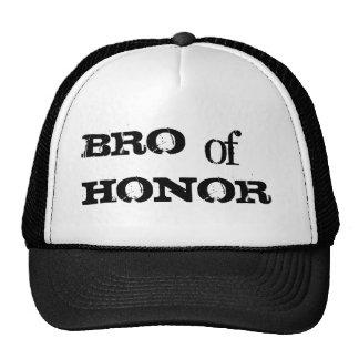Bro del gorra negro del padrino de boda del humor