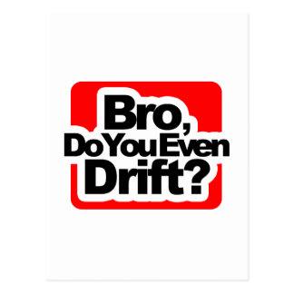 Bro, Do you even drift ? Postcard
