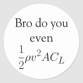 Bro do you even lift (force) classic round sticker