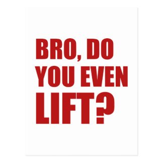 Bro, Do You Even Lift? Postcard