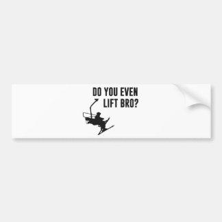 Bro, Do You Even Ski Lift? Car Bumper Sticker