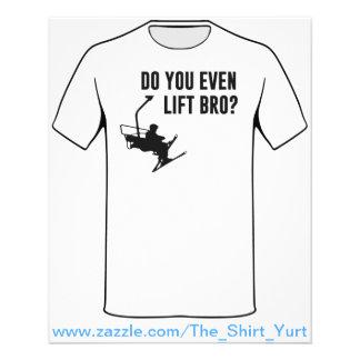 Bro, Do You Even Ski Lift? Flyer Design
