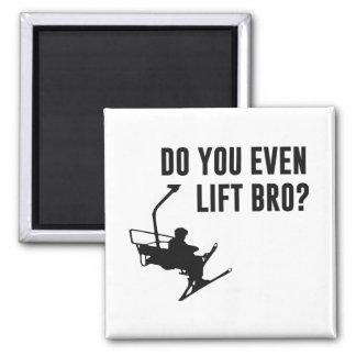 Bro, Do You Even Ski Lift? Fridge Magnets