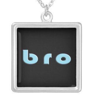 Bro for a Brother Square Pendant Necklace