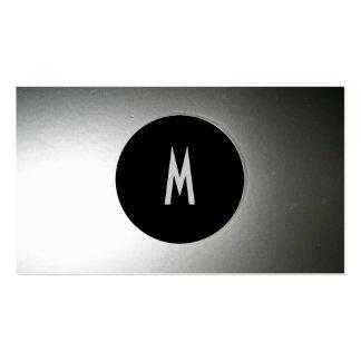 Bro fresco de acero negro/de plata moderno tarjetas de visita