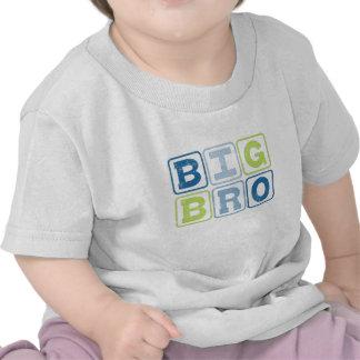 BRO GRANDES - Letra de molde de hermano mayor Camiseta