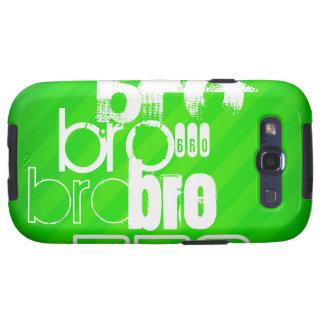 Bro; Neon Green Stripes Samsung Galaxy SIII Covers