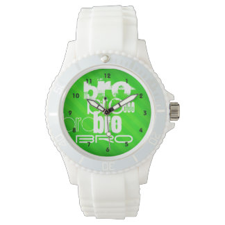 Bro; Neon Green Stripes Watch