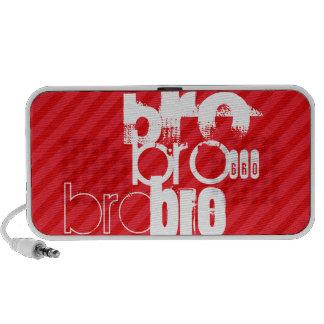 Bro; Rayas del rojo del escarlata Notebook Altavoz