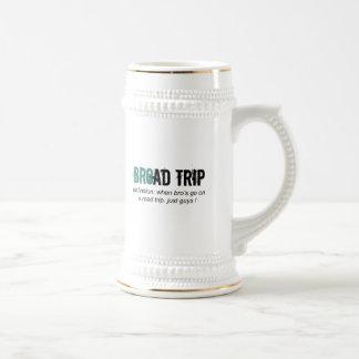Bro Road Trip i.e. Broad Trip Beer Stein
