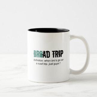 Bro Road Trip i.e. Broad Trip Two-Tone Coffee Mug