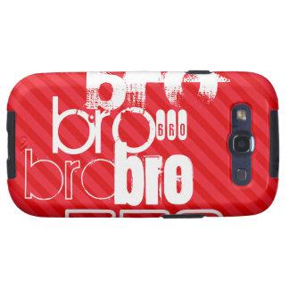 Bro; Scarlet Red Stripes Samsung Galaxy S3 Cases