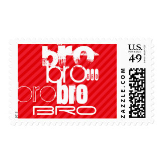 Bro; Scarlet Red Stripes Postage