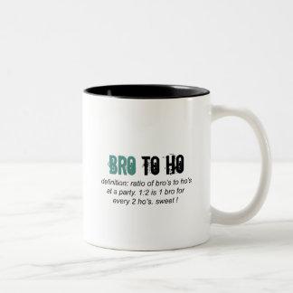 Bro to Ho Ratio Two-Tone Coffee Mug