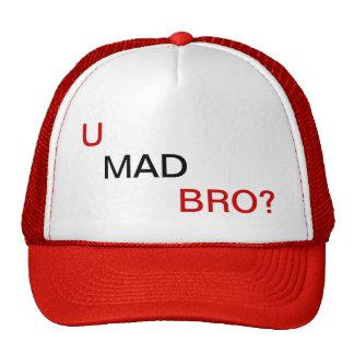 ¿Bro, U enojado? Gorras De Camionero