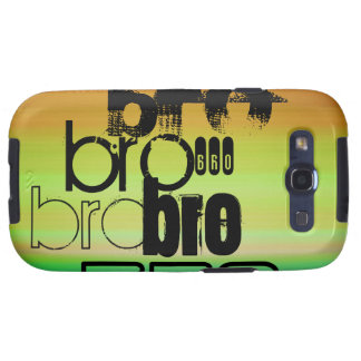 Bro; Vibrant Green, Orange, & Yellow Galaxy SIII Cover