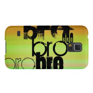 Bro; Vibrant Green, Orange, & Yellow Galaxy S5 Covers