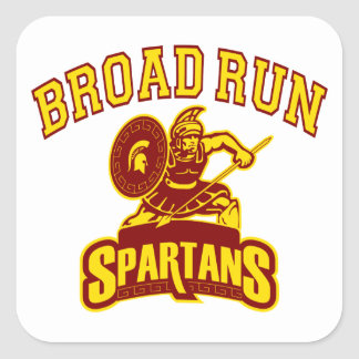 Broad Run Spartans Square Sticker