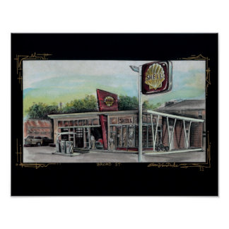 Broad St Shell Station Poster