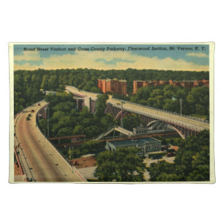 Broad St. Viaduct, Mt. Vernon NY Vintage Cloth Placemat