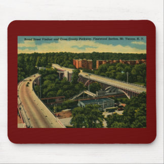 Broad St. Viaduct, Mt. Vernon NY Vintage Mouse Pad