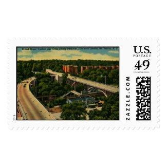 Broad St. Viaduct, Mt. Vernon NY Vintage Briefmarken