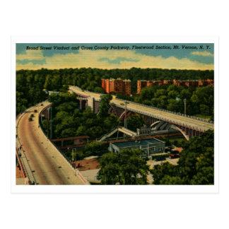 Broad St. Viaduct, Mt. Vernon NY Vintage Postcard